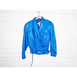 Tannery West || Blue Vintage Biker Jacket